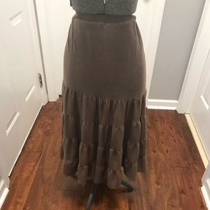 Brown skirt 2x brown very soft maxi